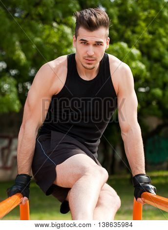 Outdoor Workout In Urban Setting.