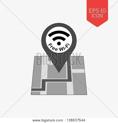 Free Wifi Zone Icon. Flat Design Gray Color Symbol. Modern Ui Web Navigation, Sign.