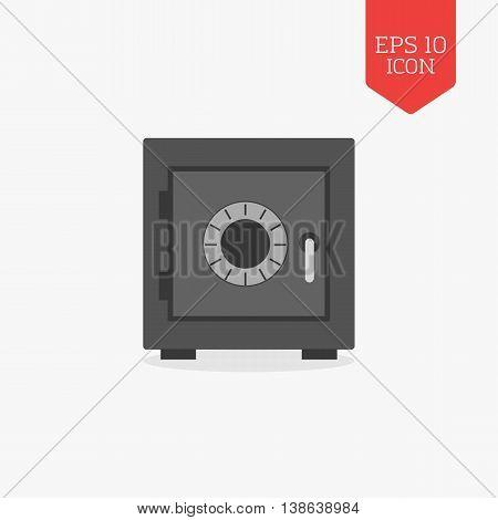 Security Safe Icon. Flat Design Gray Color Symbol. Modern Ui Web Navigation, Sign.