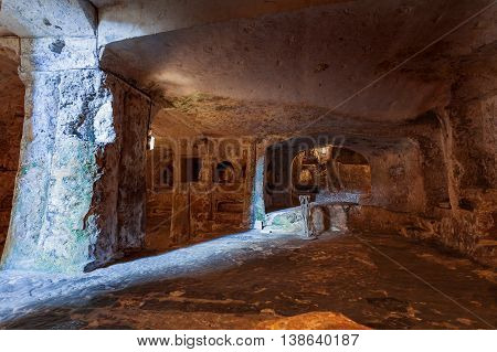Famous landmark - ancient christian cemetery (catacombs) of Saint Paul. Rabat Malta.