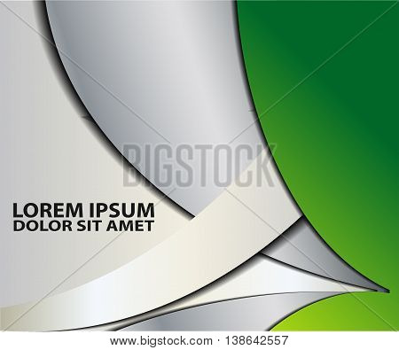 Green background vector infographic information graphic for message and text design