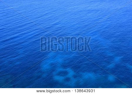 Deep blue sea. Water texture or background.