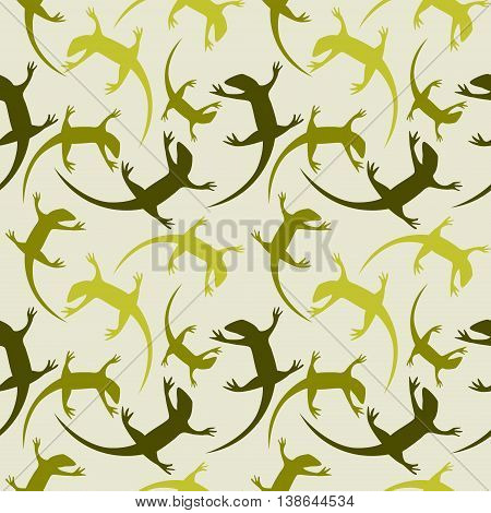 Seamless Animal Vector Pattern, Background With Reptiles