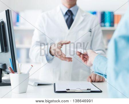Customer At The Pharmacy