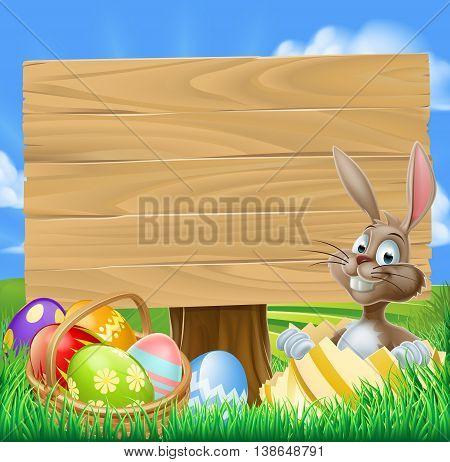 Easter Bunny Egg Hunt Sign