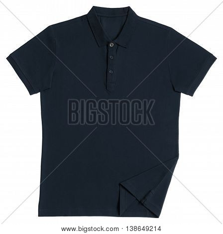 Polo tee shirt brown isolated on white background