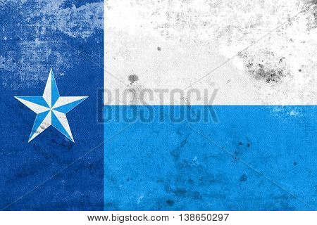 Flag Of Dallas County, Texas, Usa, With A Vintage And Old Look