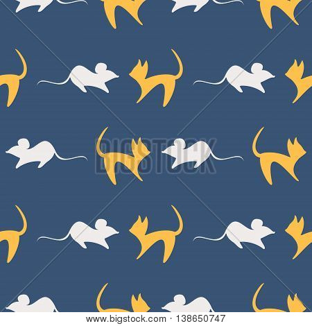 Seamless Vector Pattern With Mouses