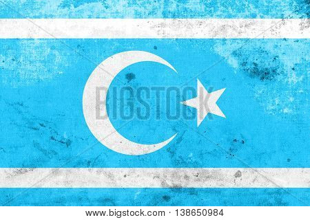 Flag Of Iraqi Turkmen Front, With A Vintage And Old Look