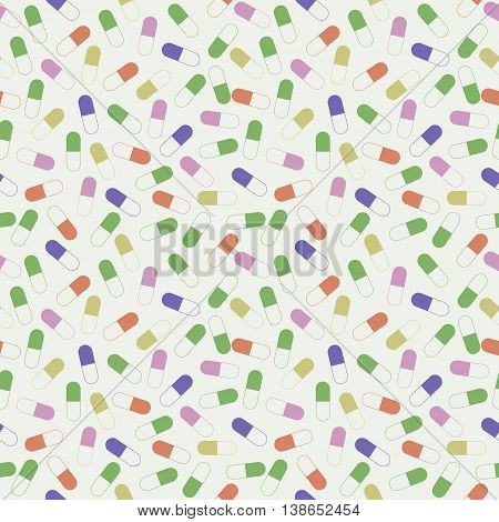 Seamless Vector Pattern With Medical Pills