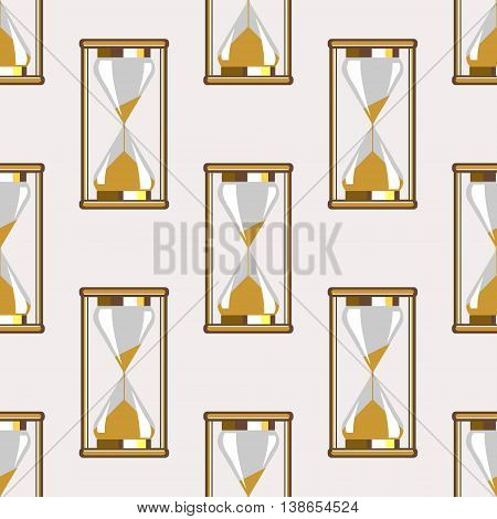 Seamless Vector Pattern With Sand Glass