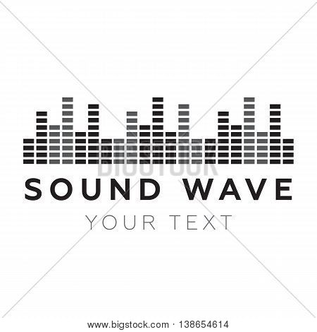 Music beat. Abstract equalizer. Sound Wave eps10