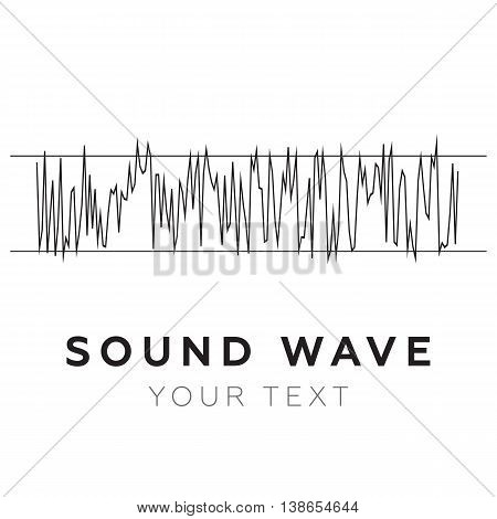 Abstract equalizer. Sound Wave. Audio equalizer eps10