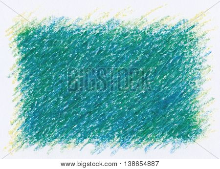 intense dark green square shape abstract textures crayon drawing background