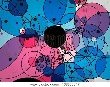 Abstract vector geometric background of circle technology concept