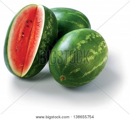 Water Melon on the white background summer