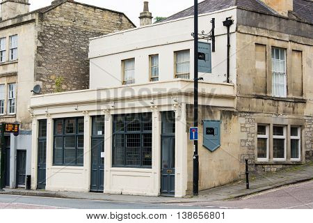 BATH SOMERSET UK - JULY 15 2016 Chapter One Public House. Independent Freehouse on London Road in the UNESCO World Heritage City of Bath in Somerset England