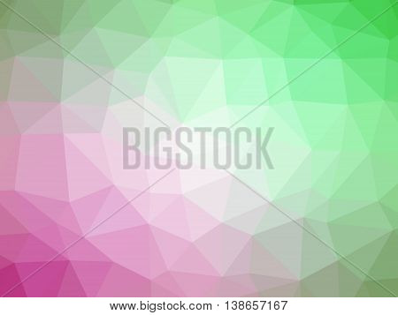 Green pink gradient polygon shaped background for professional use.