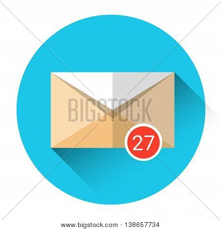 Envelope Email Icon Inbox Message Send Business Mail Flat Vector Illustration