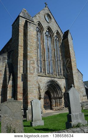An exterior view of the impressive cathedral at Dunblane