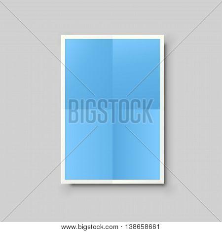 illustration of blue color paper list lying on grey background