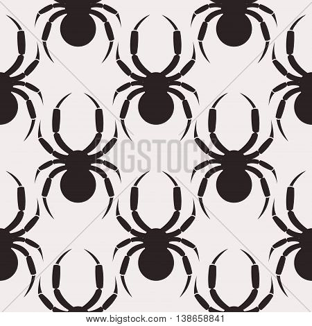 Seamless Vector Pattern With Spiders