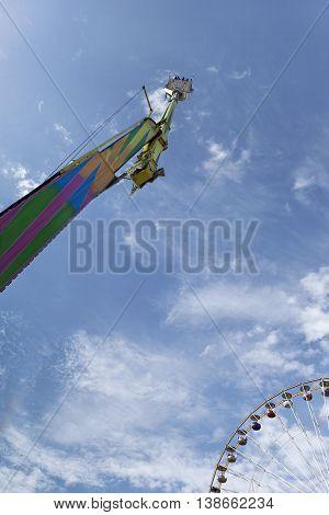 Fairground And Blue Sky