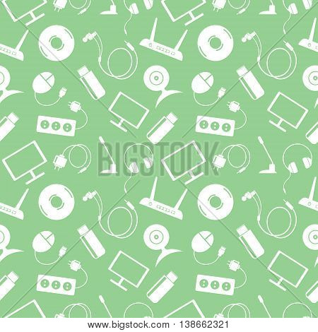 Seamless Vector Technology Pattern