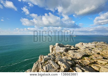 The cliffs at the cape of Pointe de Pen-hir Bretagne France