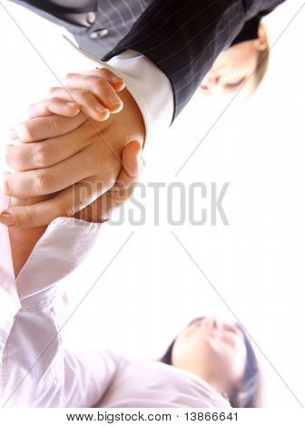 Businessman teamwork partners shaking hands
