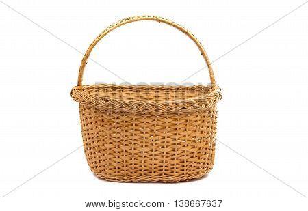wicker basket  eco isolated on white background