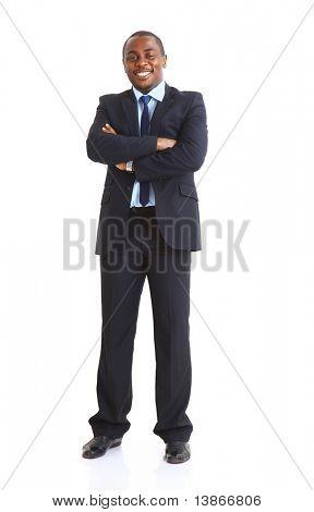 Closeup portrait of a successful African American business man