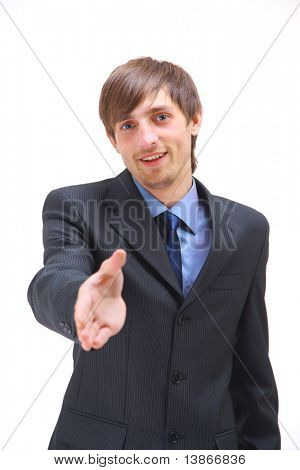 Businessman Reaching For Handshake