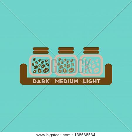flat icon on stylish background coffee jar of beans