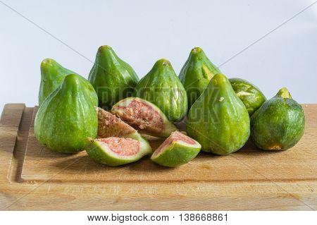 figs on a wooden cutting board, great Italian appetizer
