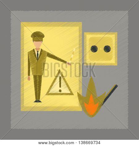 flat shading style icon education safety lessons