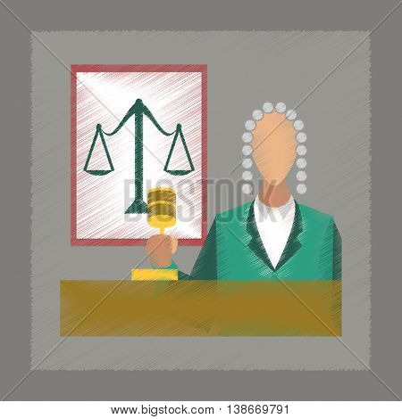 flat shading style icon education jurisdiction judge