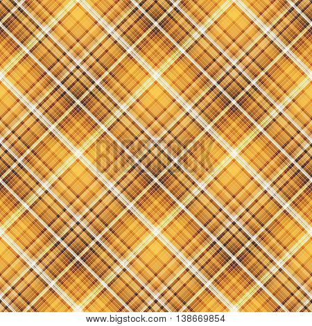 Checkered seamless yellow and orange pattern. Cowboy ornament. Abstract symmetrical background. Vector eps10