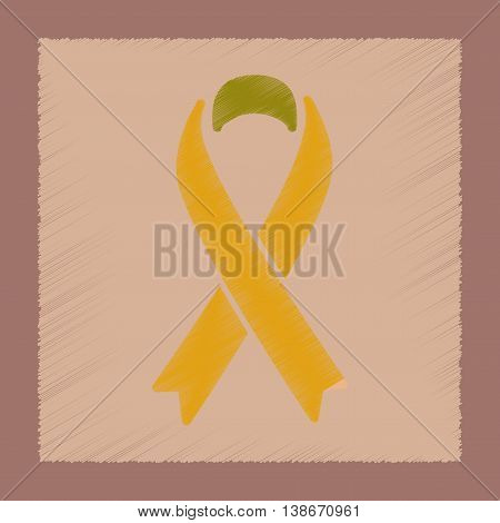 flat shading style icon gays HIV ribbon