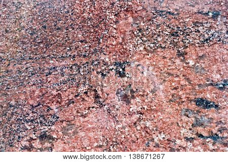 Texture of natural treated brown and black granite