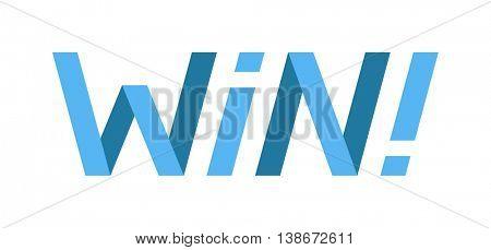 Win text vector illustration