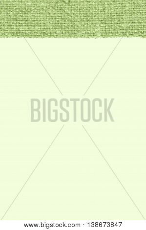 Textile tablecloth, fabric element, emerald canvas, jutesack material close-up background