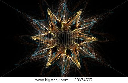 Abstract Wallpaper. Abstract Fractal. Fractal Art Background For Creative Design. Decoration For Wal