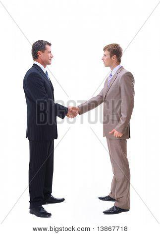 Handshake isolated over white background