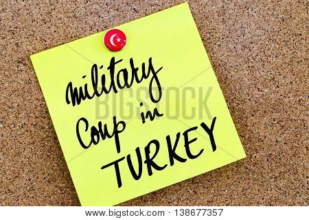 Written Text Military Coup In Turkey