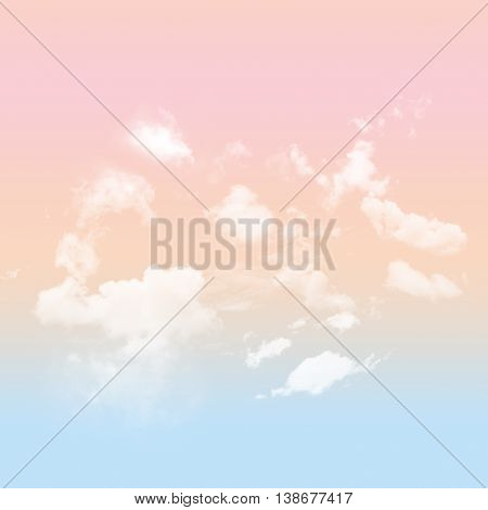 A Colorful Pastel sky with white cloudy