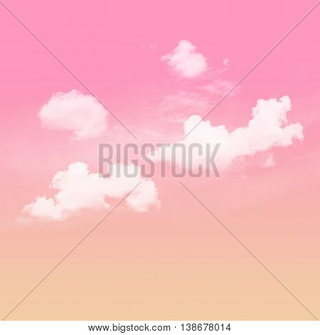 colorful sky Pink and orange tone and white cloudy
