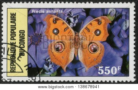 CONGO  - CIRCA 1987: A stamp printed in Congo shows a series of images of