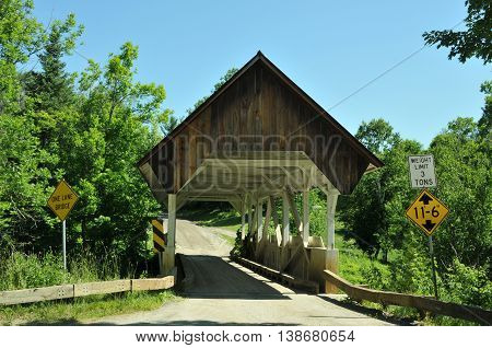 Greenbanks Hollow Covered Bridge in Danville, Vermont