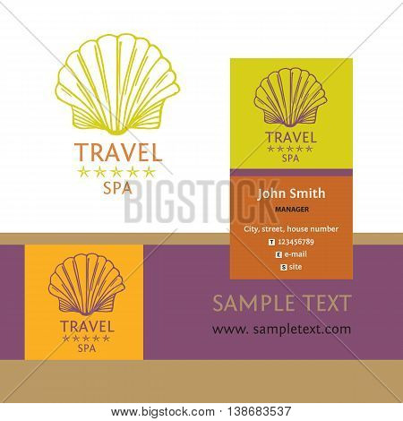 Design Logo Of Cruise Travel And Spa. Hand Drawn Silhouettes Log